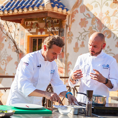 Showcooking Chef Manuel Alonso y chef Chema Soler